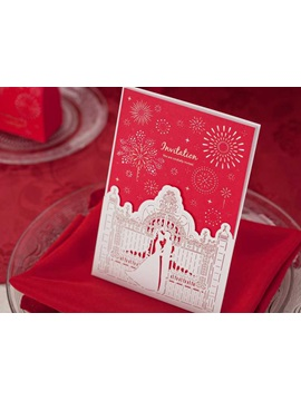 Marry Me Shabby Chic Wedding Invitation Cards 20 Pieces One Set