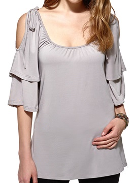 Stylish Ruffle Half Sleeves T Shirt