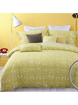 Cartoon Bear Image 4 Piece Bedding Sets