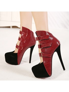 Buckles Strappy Stiletto Heel Prom Shoes