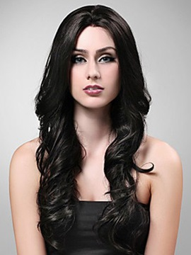 Long Wavy Synthetic Hair Wig Capless 22 Inches