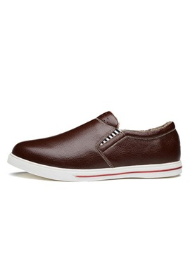 Pu Slip On Mens Casual Shoes