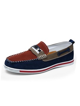 Color Block Slip On Mens Boat Shoes