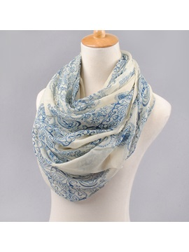 Fashion Pattern Printed Chiffon Womens Big Scarf