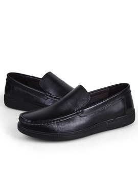 Black Slip On Mens Casual Shoes