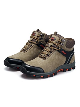 Suede Mid Cut Lace Up Mens Hiking Boots