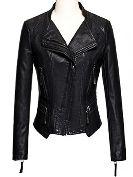 Chic Hem Decoration Short Jacket