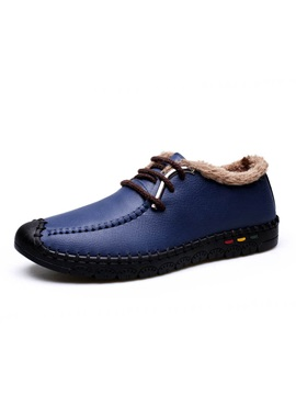 Thread Pu Lace Up Casual Shoes