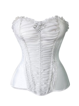 Elegant Lace Up Pleated Stretch Corset