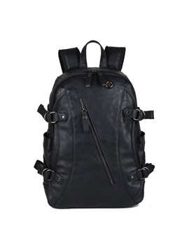Zipper Solid Men Backpack