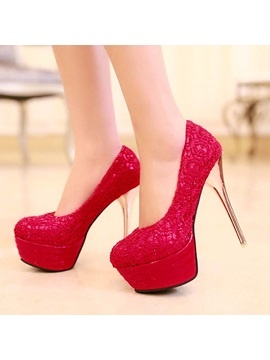 Elegant Sequins Stiletto Heel Platform Pumps