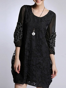 Round Neck Day Dress