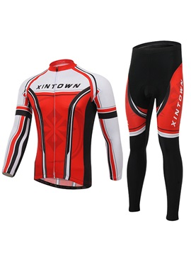 Polyester Full Zip Cycling Jersey And Pant