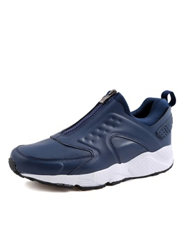 Pu Round Toe Mens Sneakers