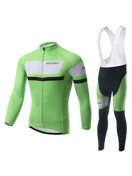 Long Sleeve Cycling Jersey And Bib Tights