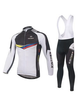 Color Block Basic Cycling Jersey And Bib Tights