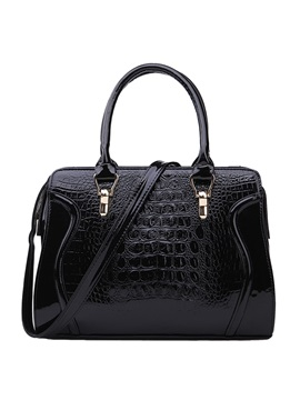 Casual Solid Crocodile Women Satchel