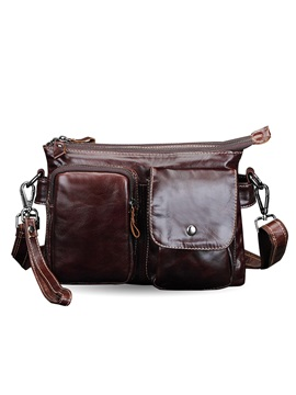 Vintage Style Genuine Leather Mens Shoulder Bag