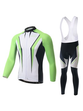 Color Block Cycle Jersey And Bib Tights