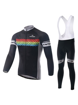 Chain Printed Long Sleeve Jersey And Bib Tights