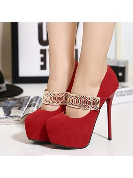 Sexy Platform Stiletto Heel Prom Shoes