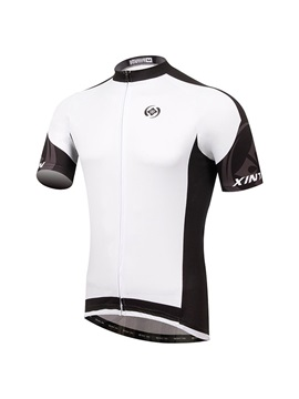 Polyester Short Sleeve Mens Cycle Jersey