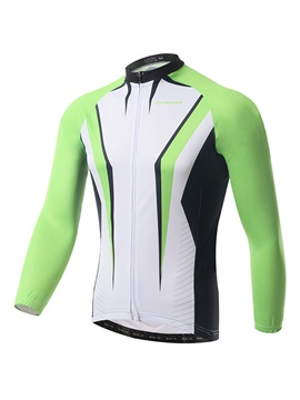 Form Fitting Long Sleeve Fleece Cycle Jersey