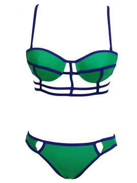 Bandage Hollow Small Chest Gather Two Piece Swimsuit