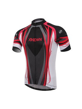 Polyester Mesh Fabric Mens Cycle Jersey