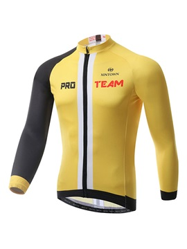 Form Fitting Front Zipper Mens Cycling Jersey