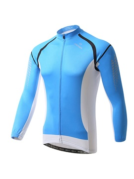 Polyester Blue Spring Mens Cycle Jersey