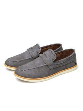 Pu Thread Slip On Mens Casual Shoes
