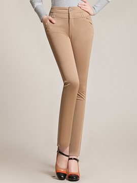 Skinny High Waist Elastic Pencil Pant