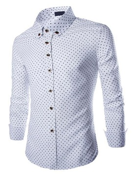 Single Breasted Mini Five Pointed Stars Design Mens Shirt