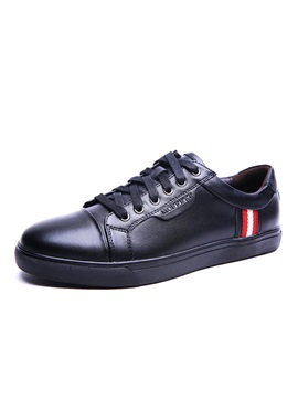 Pu Cape Toe Lace Up Casual Shoes