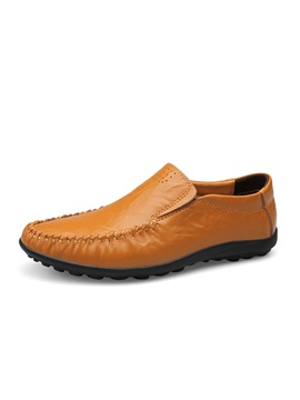 Pu Ruched Slip On Mens Loafers