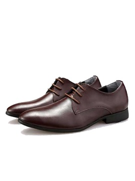 British Plain Toe Lace Up Dress Shoes