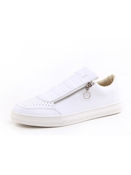 Pu Thread Oblique Casual Shoes