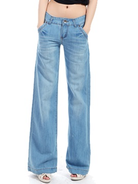 Skinny Wide Leg Worn Womens Jean