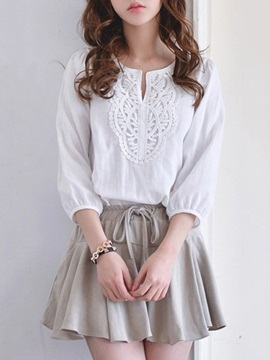 Elegant 3 4 Sleeve Top Wide Leg Short