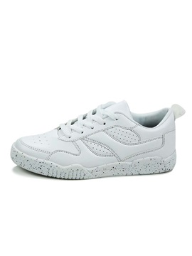 Breathable Pu Lace Up Skater Shoes