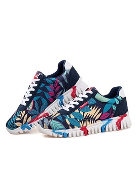 Printed Lace Up Front Mens Sneakers