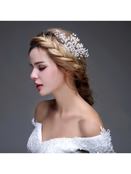 Pearls Floral Wedding Headpiece Wedding Comb