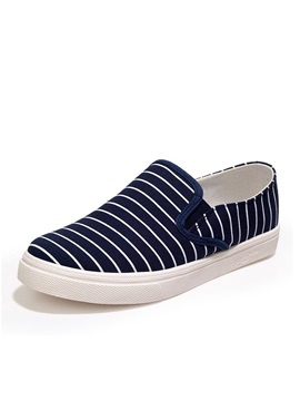 Striped Slip On Loafers For Men