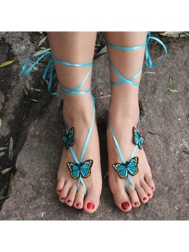 Butterfly Pattern Cotton Women Anklets Price For A Pair
