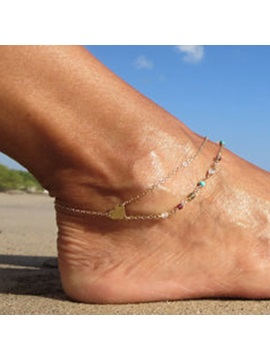 E Plating Heart Shape Women Anklet