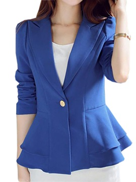Stylish Hem One Button Blazer
