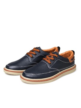 Pu Thread Low Cut Mens Skater Shoes