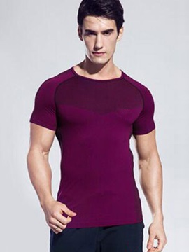 Nylon Short Sleeve Mens Sports T Shirt