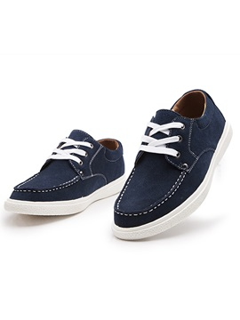 Breathable Suede Lace Up Casual Shoes